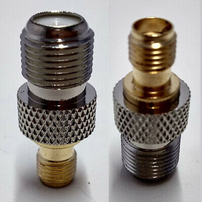 2PCS Electronics Connector Socket RF Goldplated SMA To F Female Adapter TV Coax
