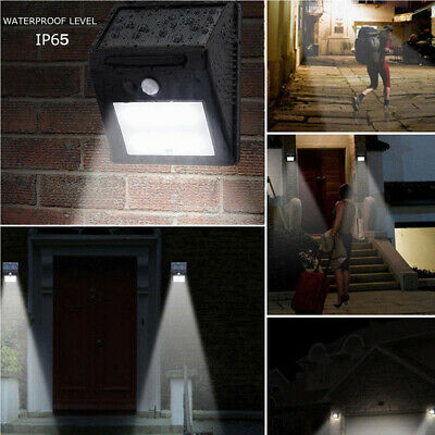 Motion Sensor Wand Garten Lightoutdoor Lamp 8-30 LED wasserdicht PIR Solar Powe