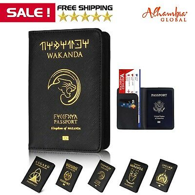 Marvel Wakanda Fashion Passport Holder Protector Cover Wallet US FREE SHIPPING
