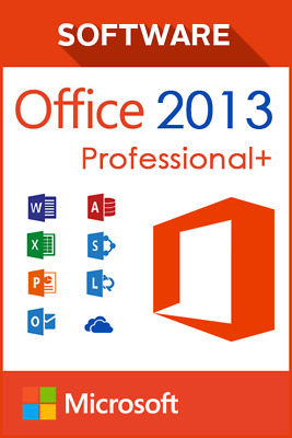 Office 2013 Professional Plus; License Key Activation; 32 and 64 bit; REAL