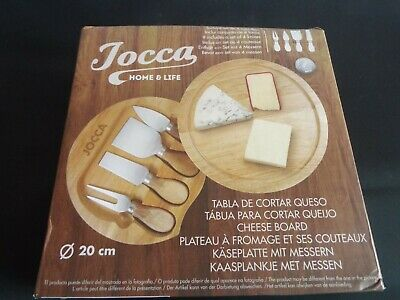 Wooden Cheese Board & 4 Piece Tools Set