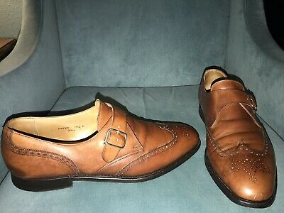 f23bf608d22f0 Brooks Brothers Peal   Co Brown Leather Monk Strap Wingtip Dress Shoes 10.5