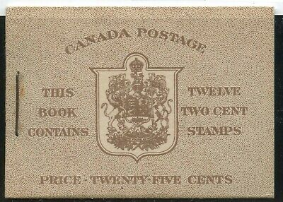 Canada 1942 KGVI Booklet Type I, 6c rate page # BK33a  English