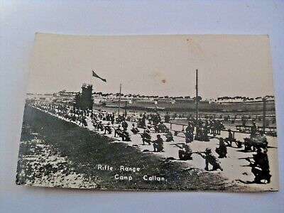 Vintage Wwii U.s. Military Rifle Range Camp Callan Real Photo Postcard
