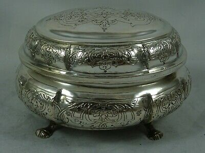 EXTREMELY rare RUSSIAN solid silver 18th century, SUGAR BOX, c1770, 265gm