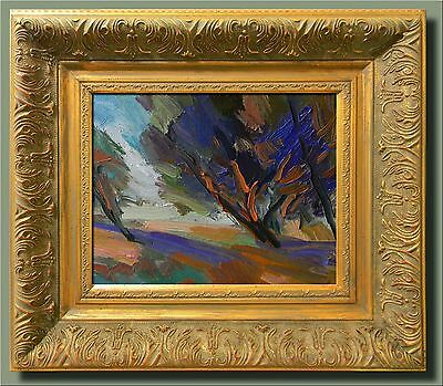 JOSE TRUJILLO IMPRESSIONISM Ornate FRAMED Oil Painting 8X10 CANVAS SIGNED COA