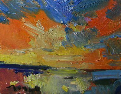 Jose Trujillo Original Oil Canvas Painting Expressionism Abstract Wetland Art
