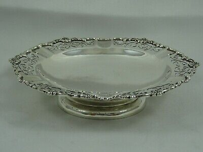 PRETTY solid silver SWEET DISH, 1937, 98gm - Mappin & Webb