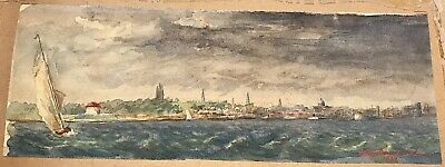 Vintage Canadian Watercolour Jeanie Redpath Drummond of Kingston Ont Dated 1907