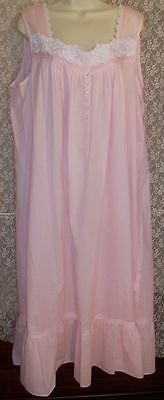 221257b9c5 Small S EILEEN WEST Long Woven Cotton Nightgown Ballet 49