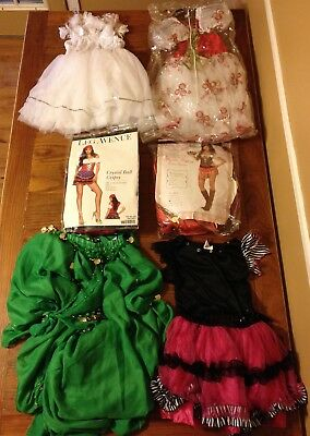 Costumes Collection Lot of 6 Dress Up & Dancewear Gypsy Belly Dancer Outfits