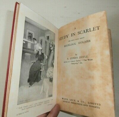 Rare A Study in Scarlet Very early Ward Lock '800 Sherlock Holmes