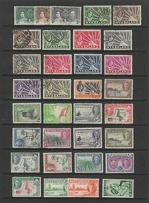 Nyasaland 1937 - 1963 collection , MH or fine used, 62 stamps