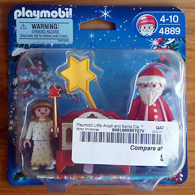 AS IS Playmobil 5875 Santa Claus Angel Organ Christmas Mini Action Figure Set