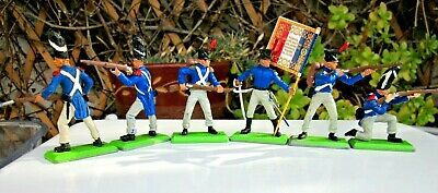 Britains Deetail -  French Napoleonic Waterloo Infantry - Full Set of 6