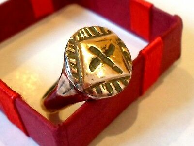 Unique Gifts,expertly Polished,detector Find,1300-1500 A.d,medieval Bronze  Ring