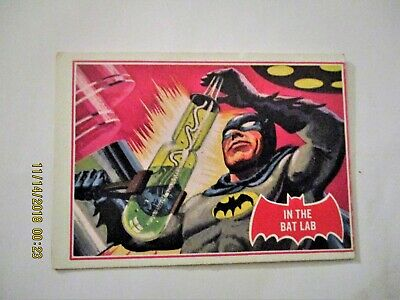 "1966 Topps Batman RED BAT CARD #25A ""In The Bat Lab"""