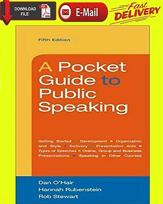 A Pocket Guide to Public Speaking 5th Edition [ E-B00K | PDF ] { FAST DELIVERY }