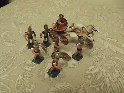 Ahona Athena Roman Greek With Chariot Toy Soldiers