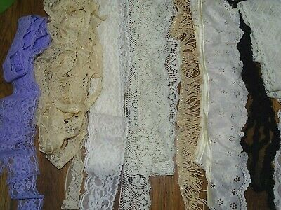 Vintage Lot Of 43+ Yards Lace Trim For Crafts Clothes More