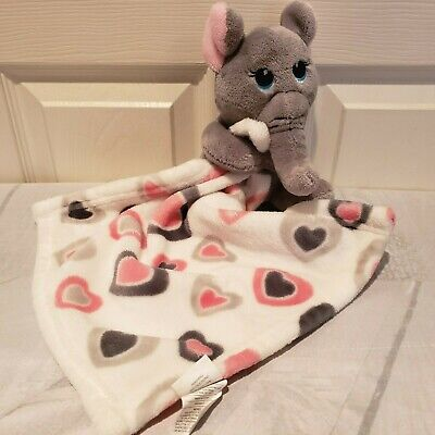 "Elephant Lovey Security Blanket Stuffed animal Plush 7"" with Blanket"