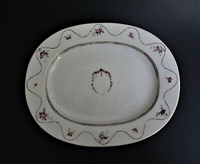 Large Antique Chinese  Qianlong Period 18th Century Porcelain Platter Bowl Plate