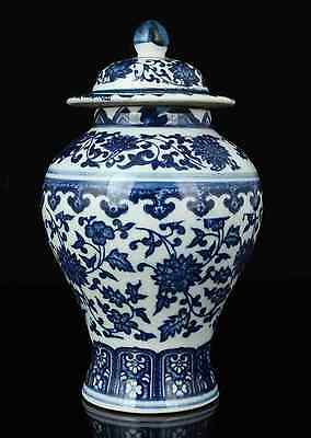 China Collectible Old Handwork Painting Blue And White Porcelain  Jar