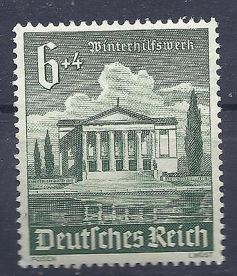Nazi Germany 3rd Reich 1940 Winter Charity Stadttheater Posen 6+4 Stamp WW2 ERA