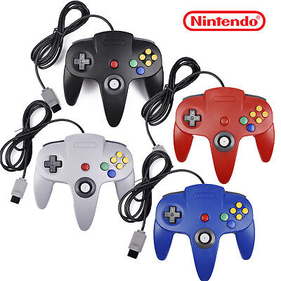 Long Wired Controller Joystick For Nintendo 64 N64 Game System Mario Kart USA