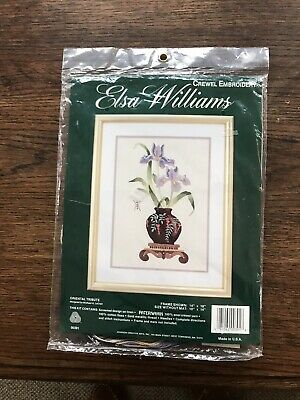 "Embroidery Kit Elsa Williams Crewel Work ""Oriental Tribute"" 10"" By 14"""