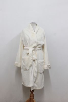 RALPH LAUREN Ladies Cream Fluffy Long Sleeved Belted Dressing Gown Size M