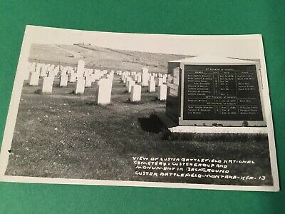 1949 RPPC Custer Battlefield National Cemetery Montana MT Postcard ID#1896