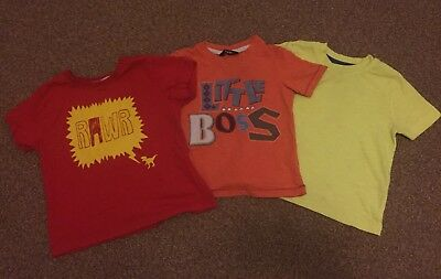 Baby Boys Triple Pack Of Tops, Size 12-18 Months And 2-3 Years