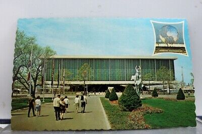 New York NY NYC World's Fair US Pavilion Postcard Old Vintage Card View Standard