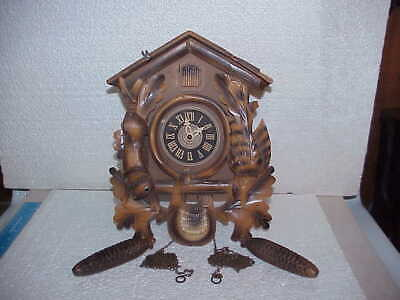 Vintage Two Tone Hunter Theme 30 Hour 100/233 Incomplete Cuckoo Clock part rep B
