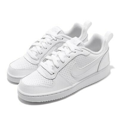 NIKE COURT BOROUGH Low GS White Grey Kids Womens Tennis
