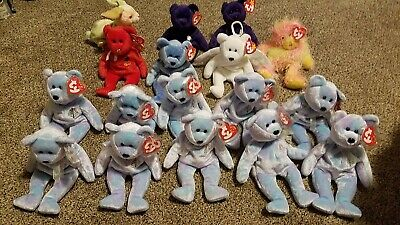 dc8d13d7902 New with tag Lot of 17 TY Beanie babies bears Rabbit Four Seasons Hotel  Princess
