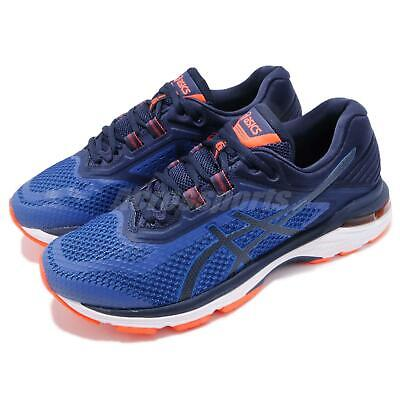 0577efd2aded Asics GT-2000 6 2E Wide Navy Blue Orange Men Running Shoes Sneakers T806N-