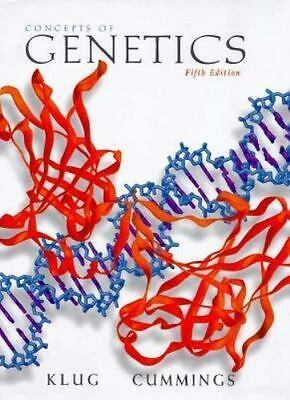 Concepts of Genetics by Michael R. Cummings and William S. Klug (1996,...