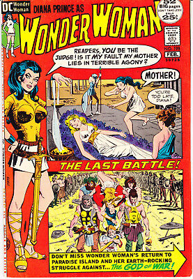Wonder Woman 198 VF (8.0) Hippolyta Ares Giant comic books Tiara 1972 DC Comics