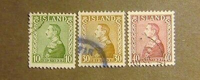 Iceland #199-201 Used F-VF Complete