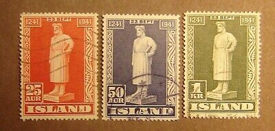 Iceland #237-239 Used F-VF Complete