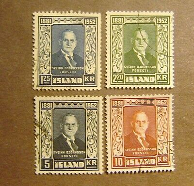 Iceland #274-277 Used F-VF Complete