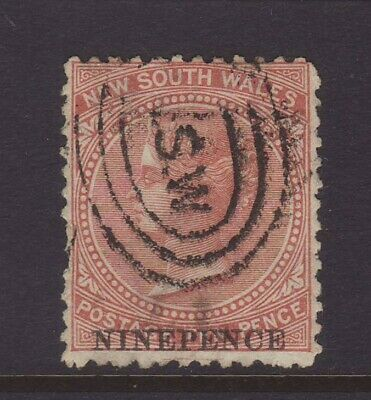 NSW 1971 NINEPENCE on 10d Surcharge, Used Lot A
