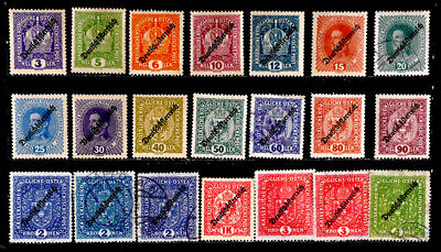 Austria: 1918 - 19 Classic Era Stamp Collection With Mint Never Hinged