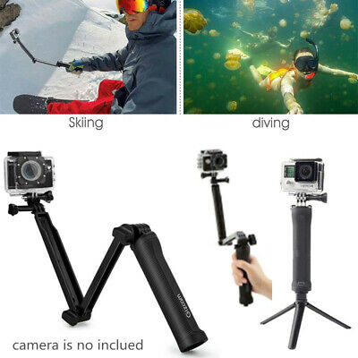 Foldable Selfie Stick Extension Monopod with Tripod for GoPro sjcam action cam