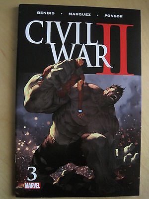CIVIL WAR II # 3 by BENDIS & MARQUEZ.. MARVEL.2016