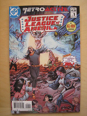 JUSTICE LEAGUE of AMERICA 64 PAGE GIANT ONE-SHOT. RETROACTIVE 1980's. DC 2011