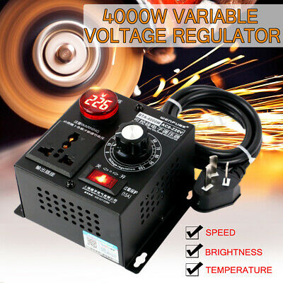 4000W AC220V SCR Eletronic Variable Voltage Regulator Thyristor Speed Controller