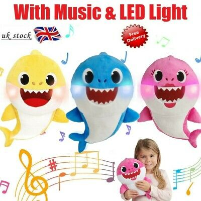 Baby Shark Plush Singing Plush Toys Music Song Doll English Toy Creative Gift UK